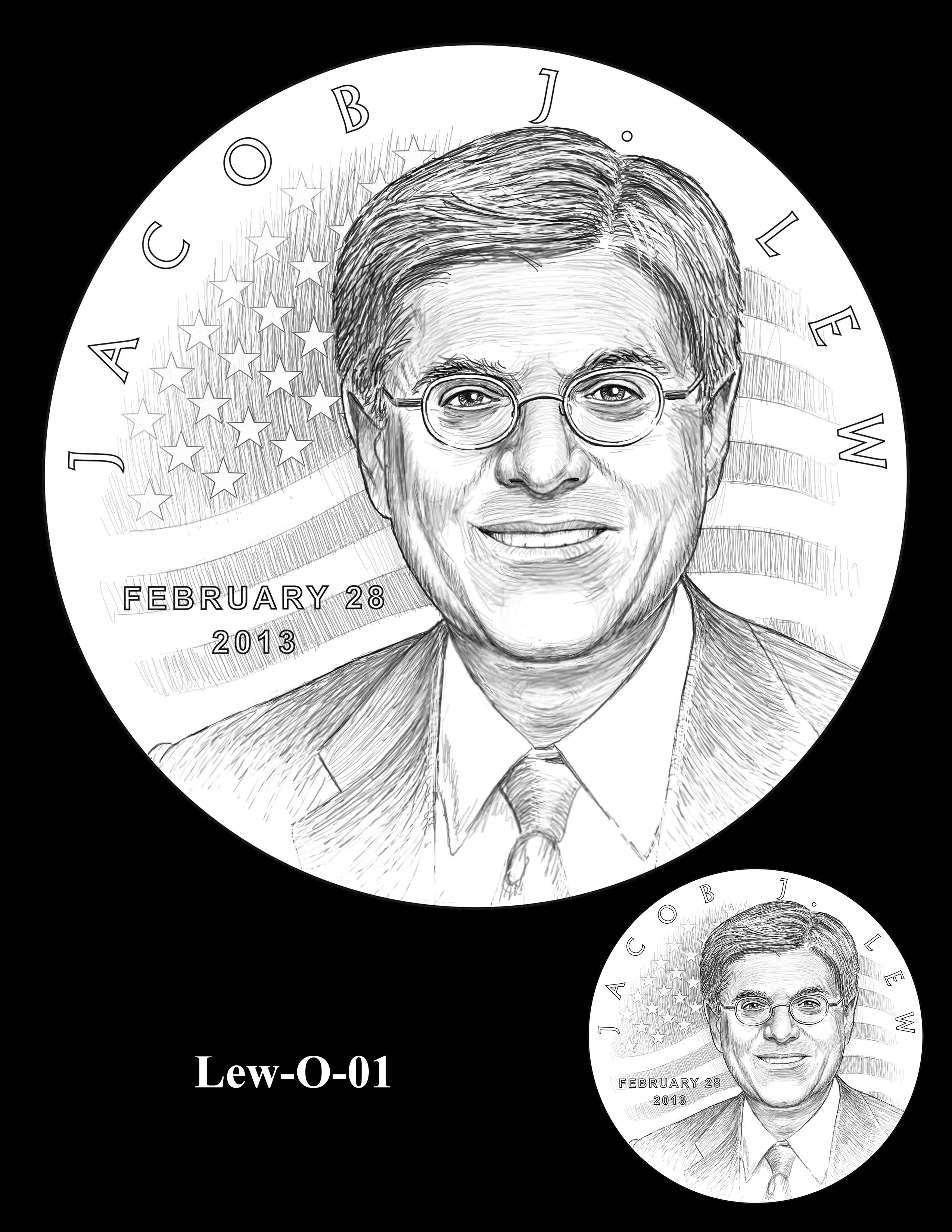 Lew-O-01 - Jacob J. Lew Secretary of the Treasury Medal Obverse