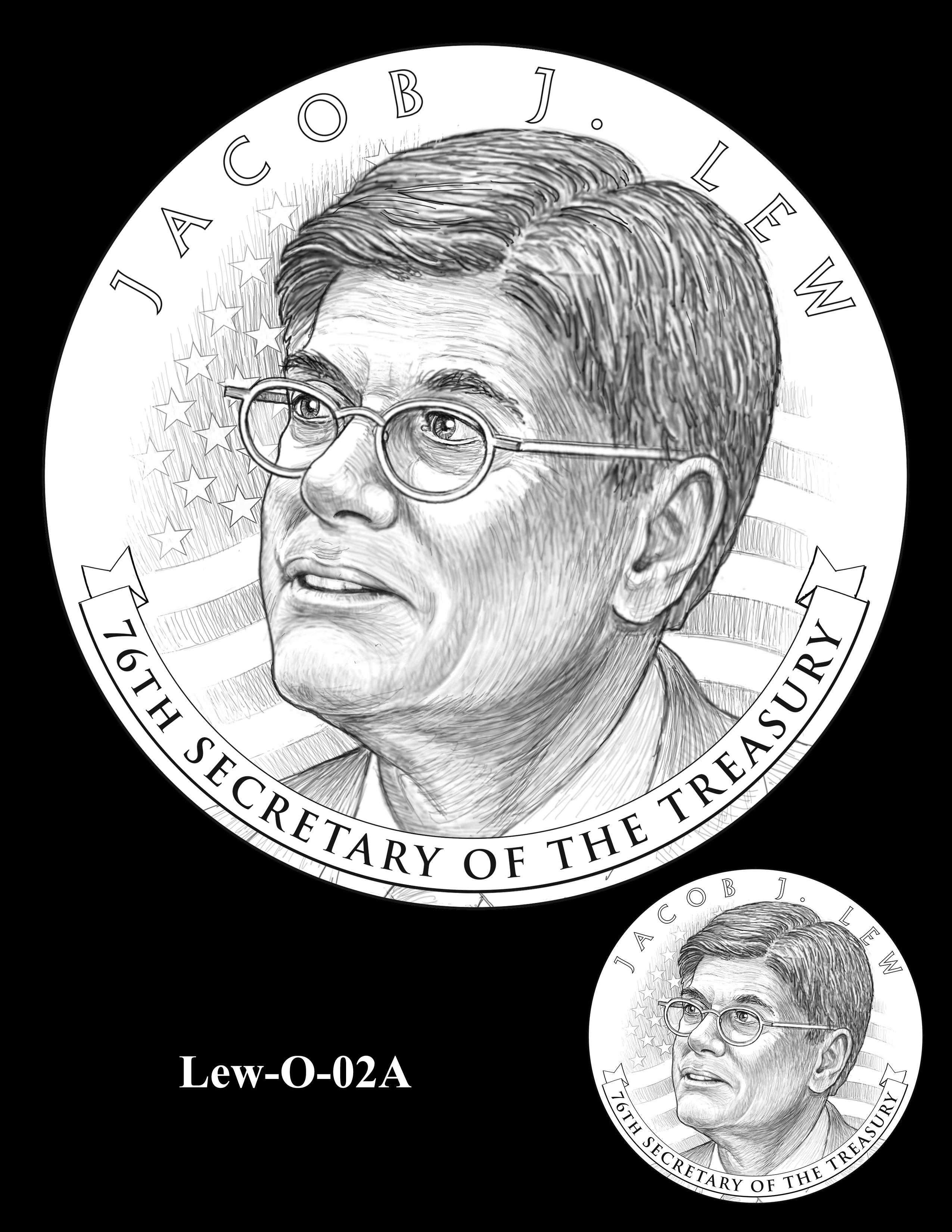 Lew-O-02A - Jacob J. Lew Secretary of the Treasury Medal Obverse
