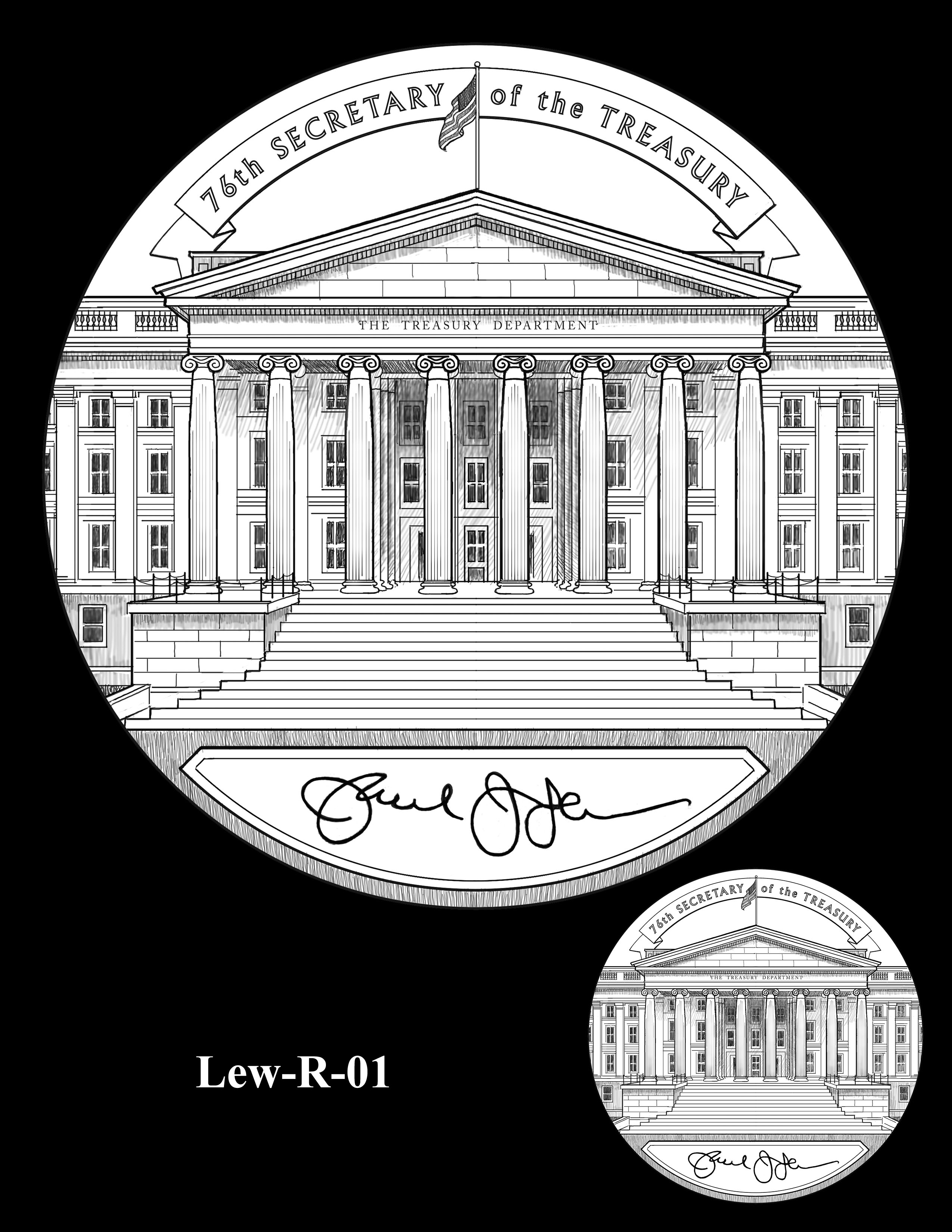 Lew-R-01 - Jacob J. Lew Secretary of the Treasury Medal Reverse