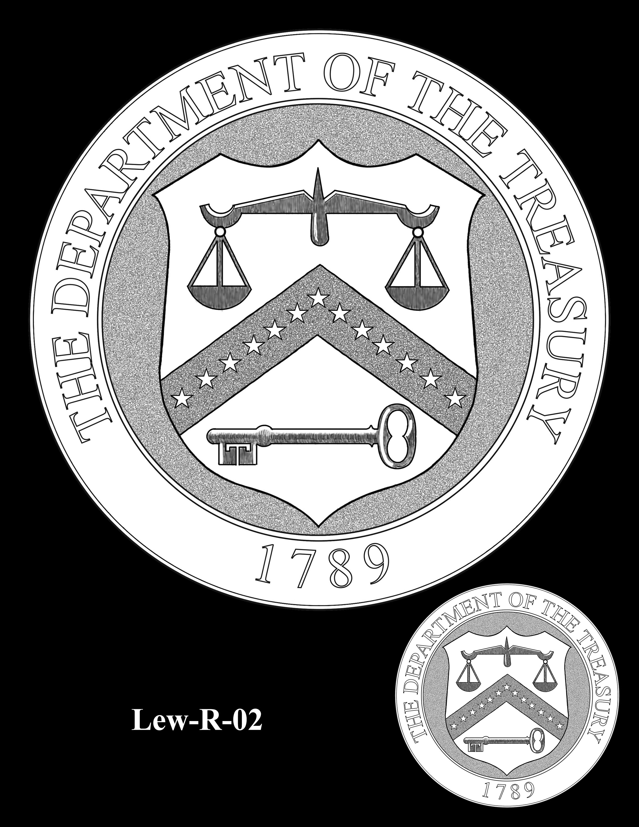 Lew-R-02 - Jacob J. Lew Secretary of the Treasury Medal Reverse
