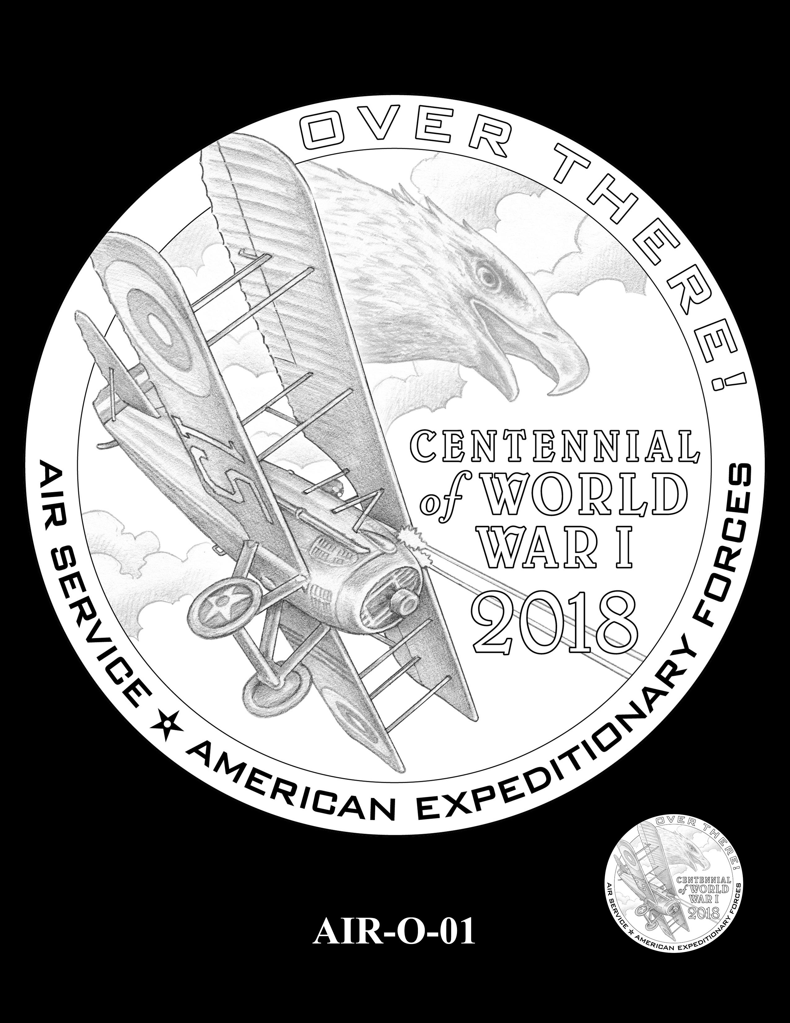P1-AIR-O-01 -- 2018-World War I Silver Medals - Air Service