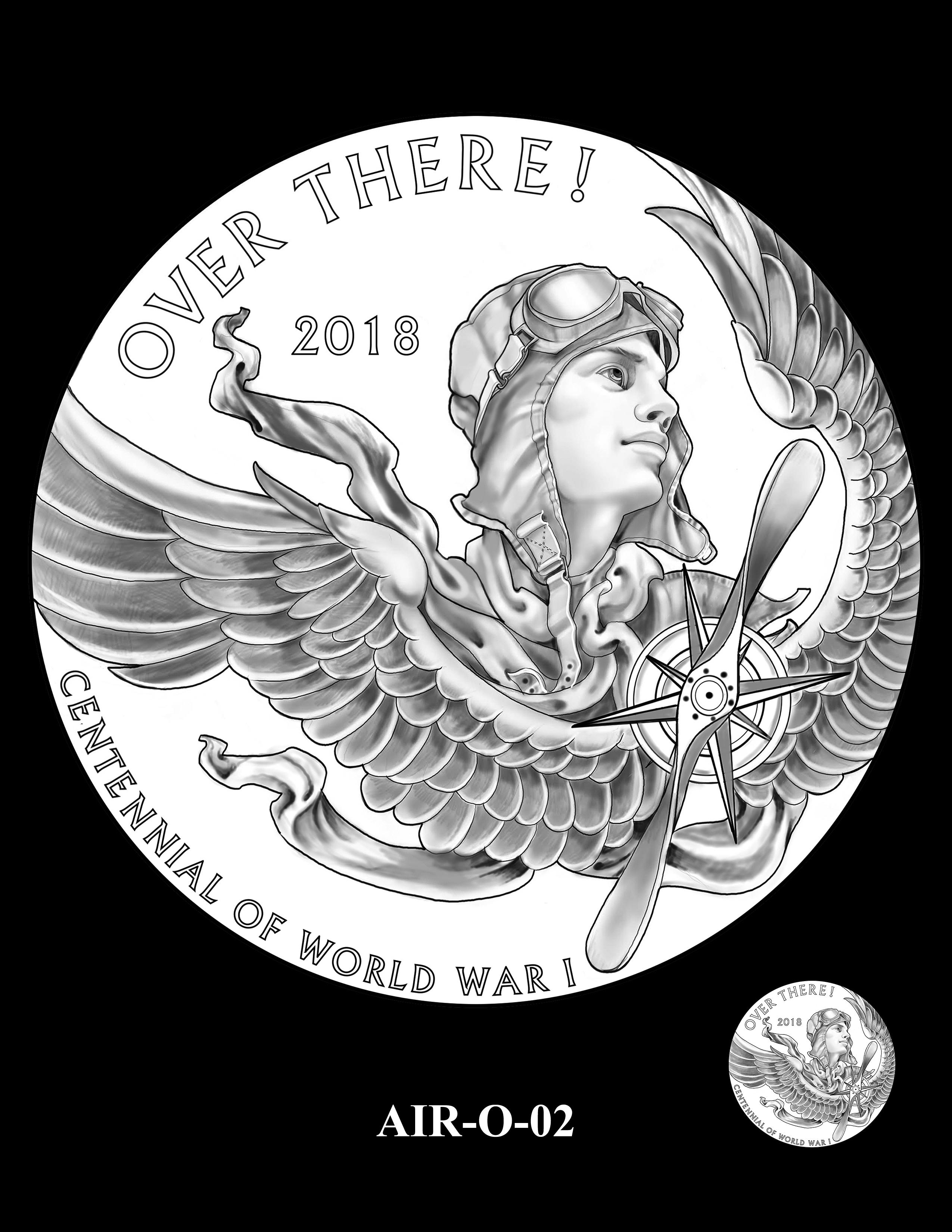 P1-AIR-O-02 -- 2018-World War I Silver Medals - Air Service