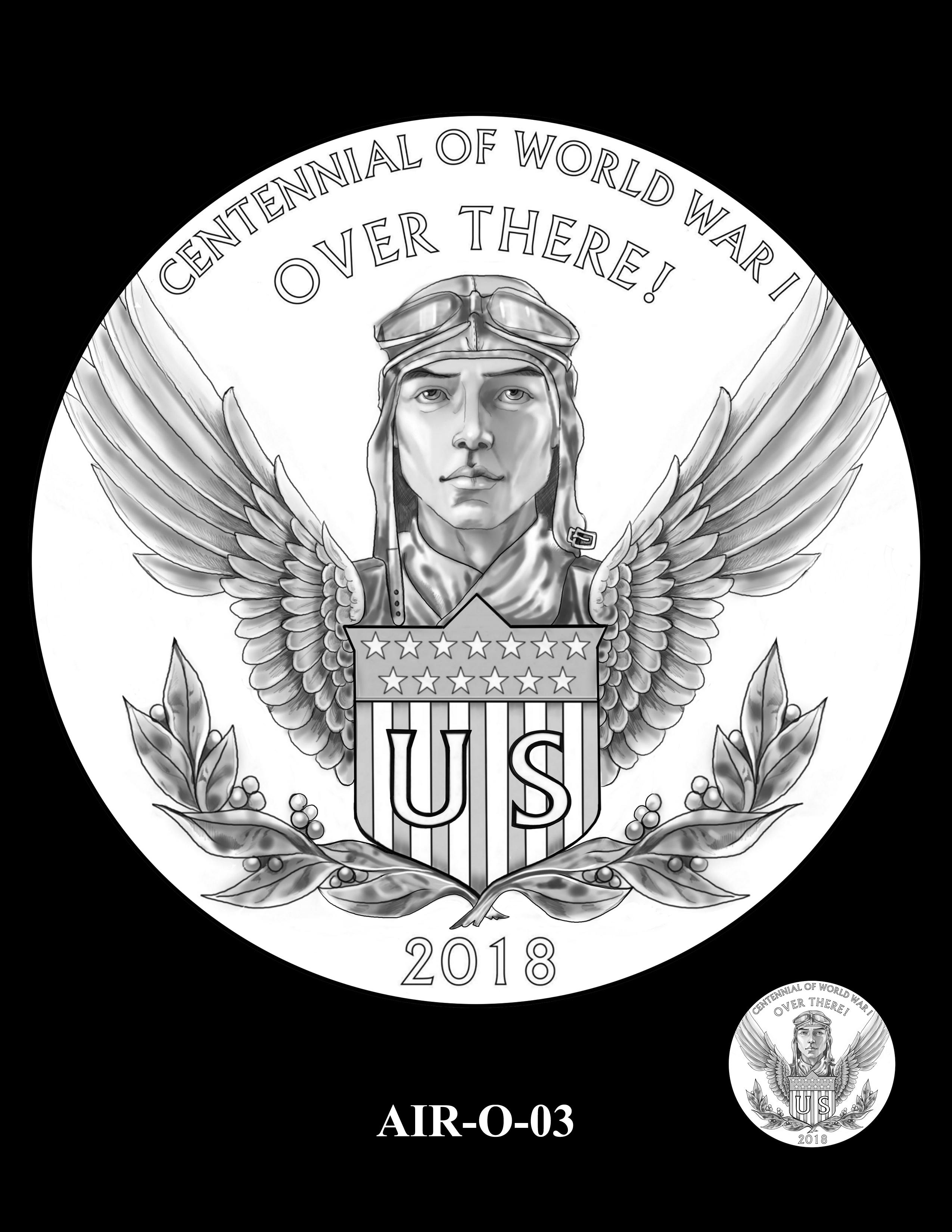 P1-AIR-O-03 -- 2018-World War I Silver Medals - Air Service