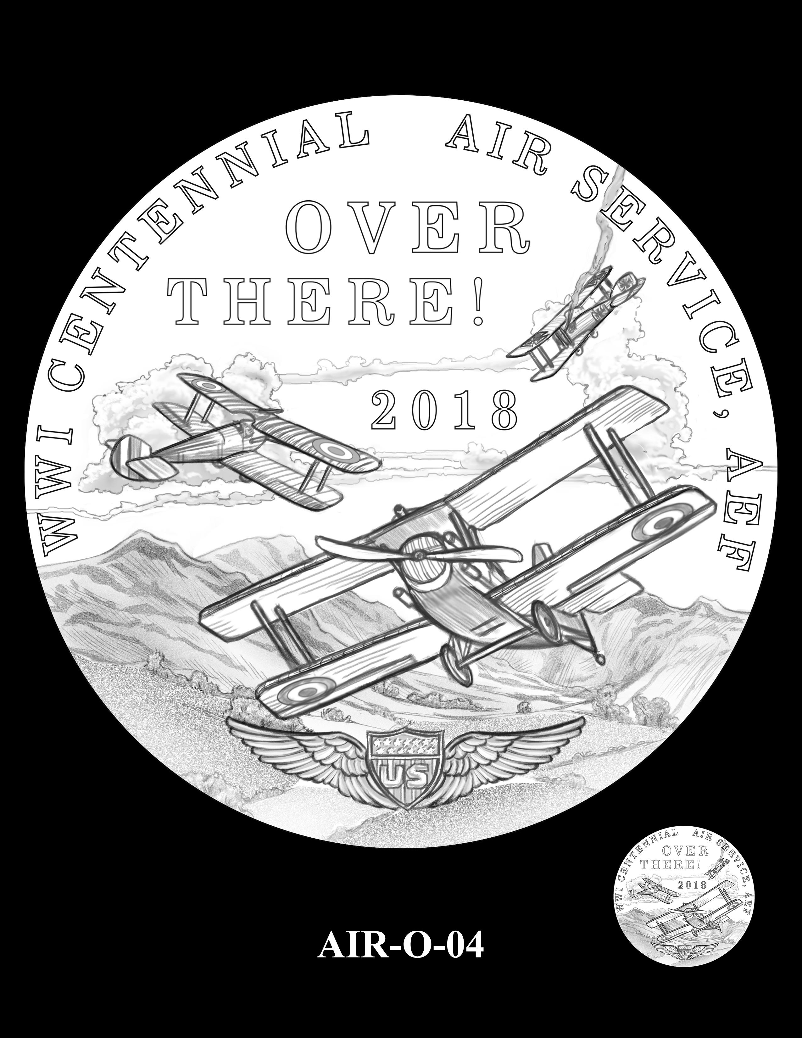 P1-AIR-O-04 -- 2018-World War I Silver Medals -  Air Service