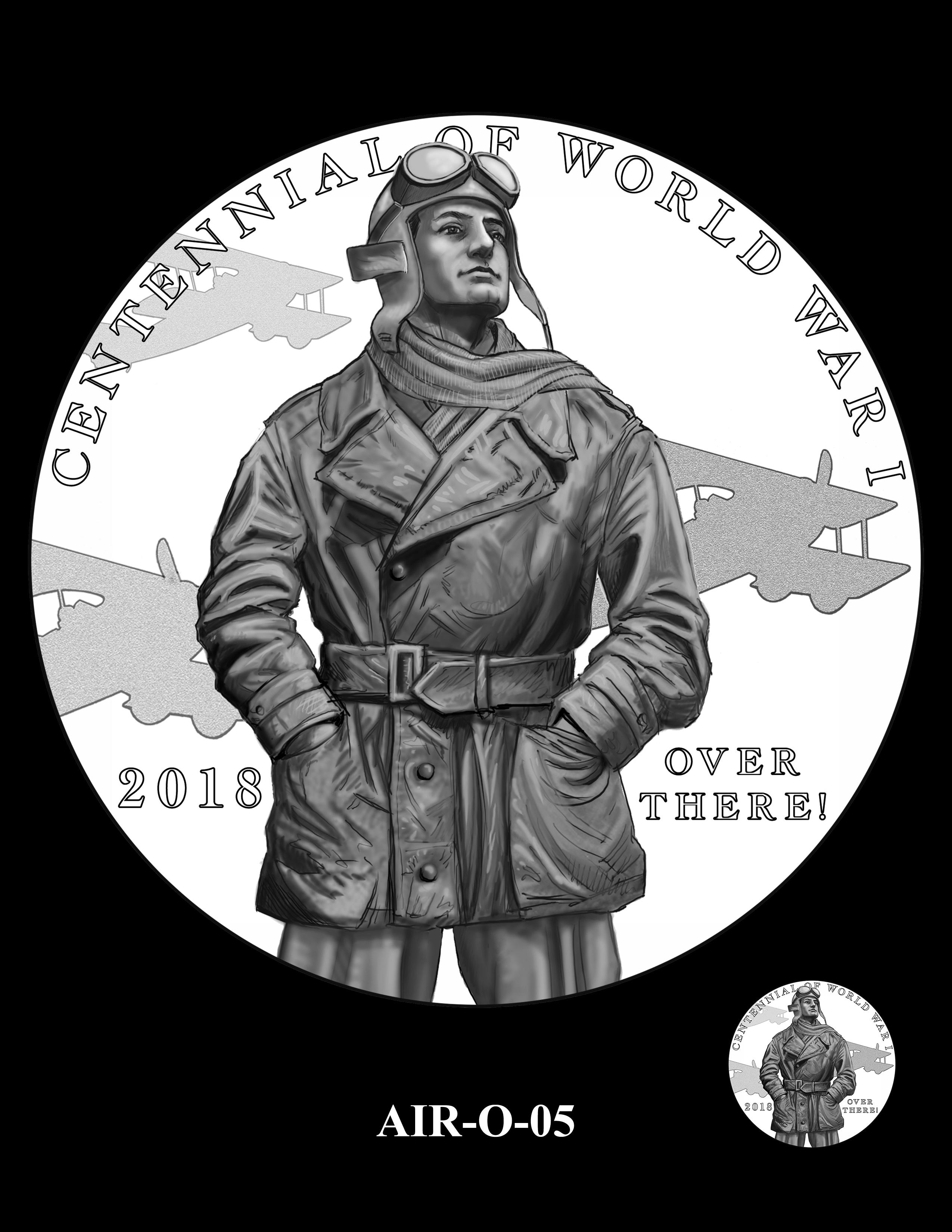 P1-AIR-O-05 -- 2018-World War I Silver Medals - Air Service