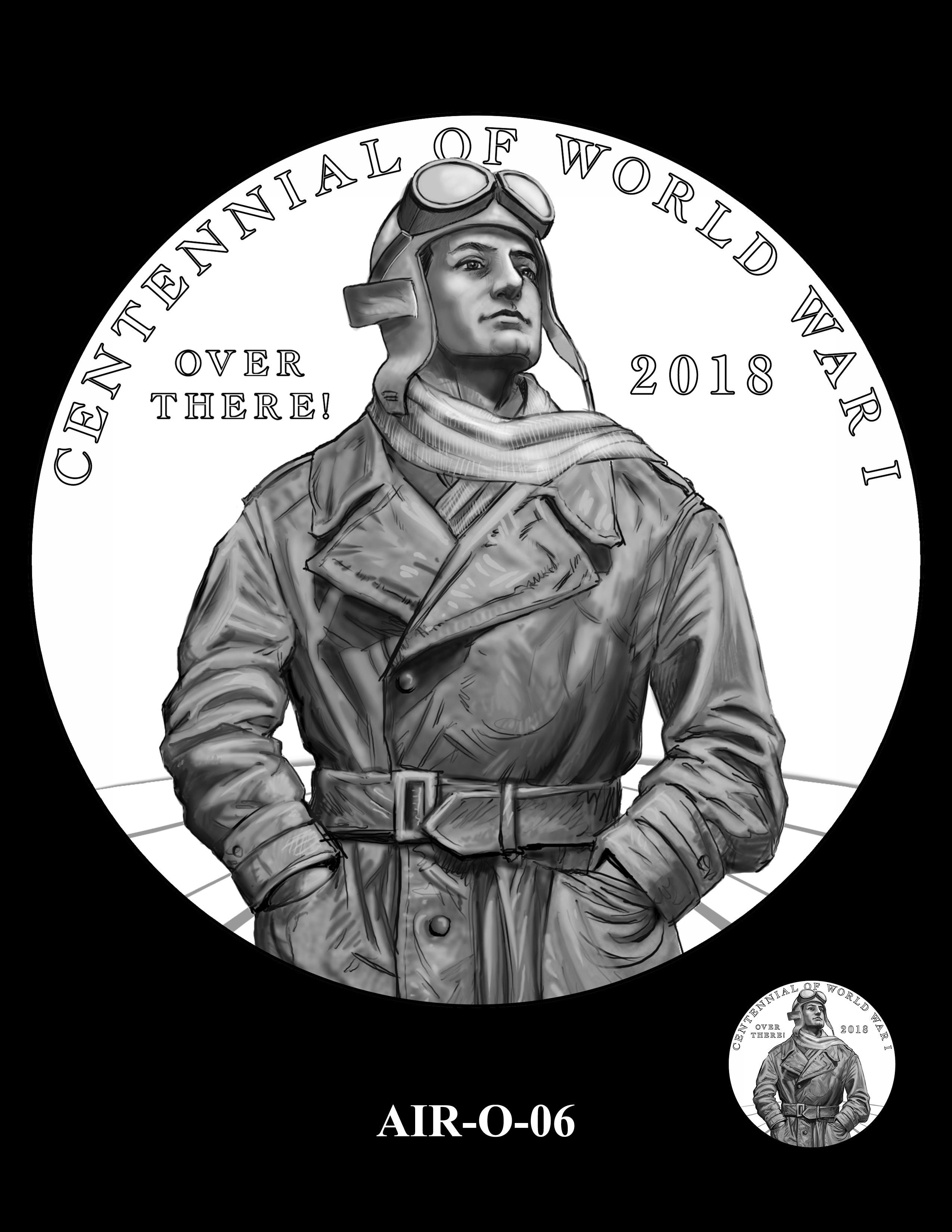 P1-AIR-O-06 -- 2018-World War I Silver Medals - Air Service