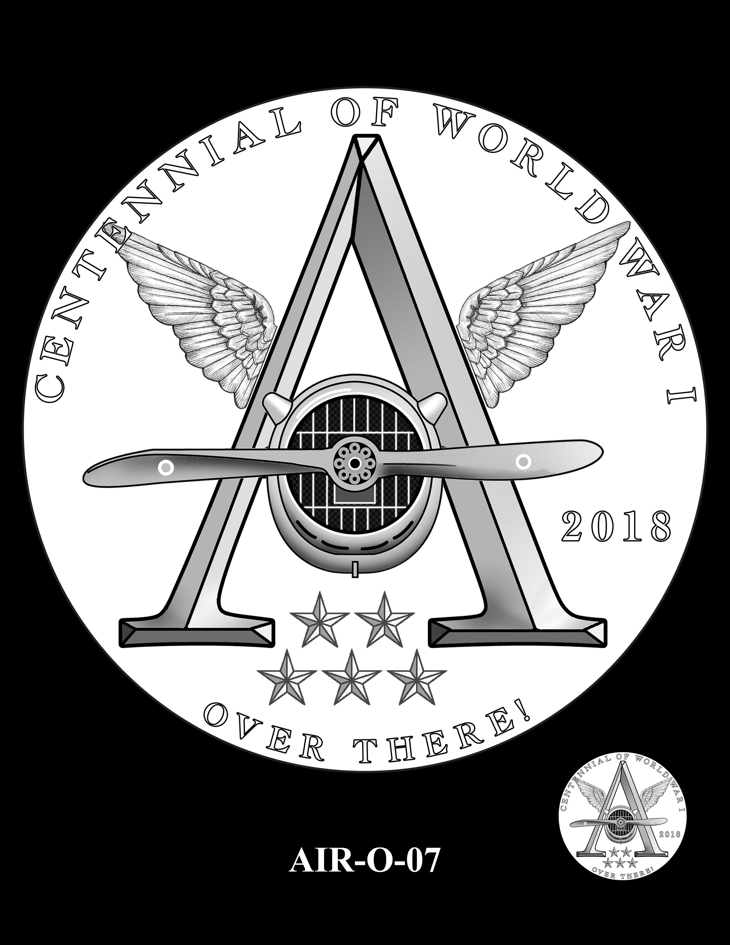 P1-AIR-O-07 -- 2018-World War I Silver Medals - Air Service