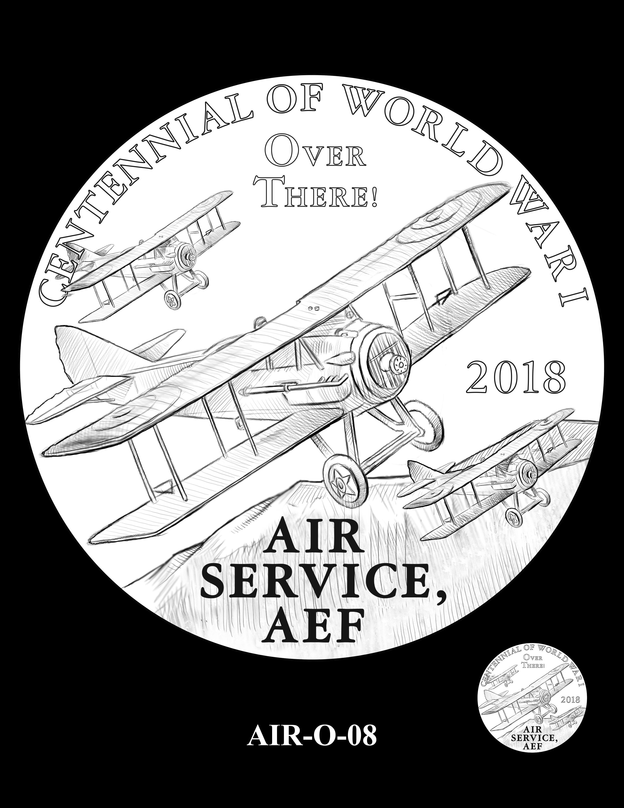 P1-AIR-O-08 -- 2018-World War I Silver Medals - Air Service