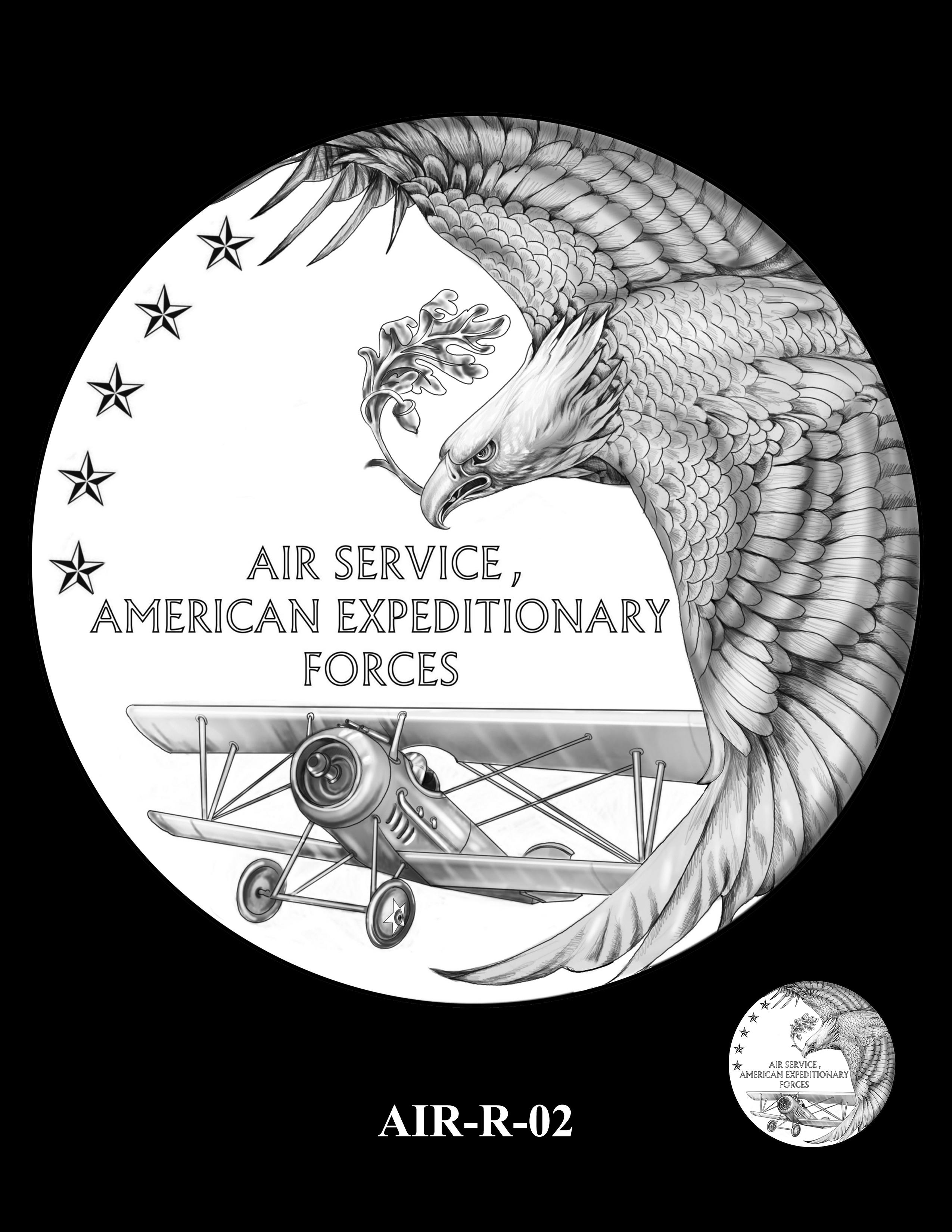 P1-AIR-R-02 --2018-World War I Silver Medals - Air Service