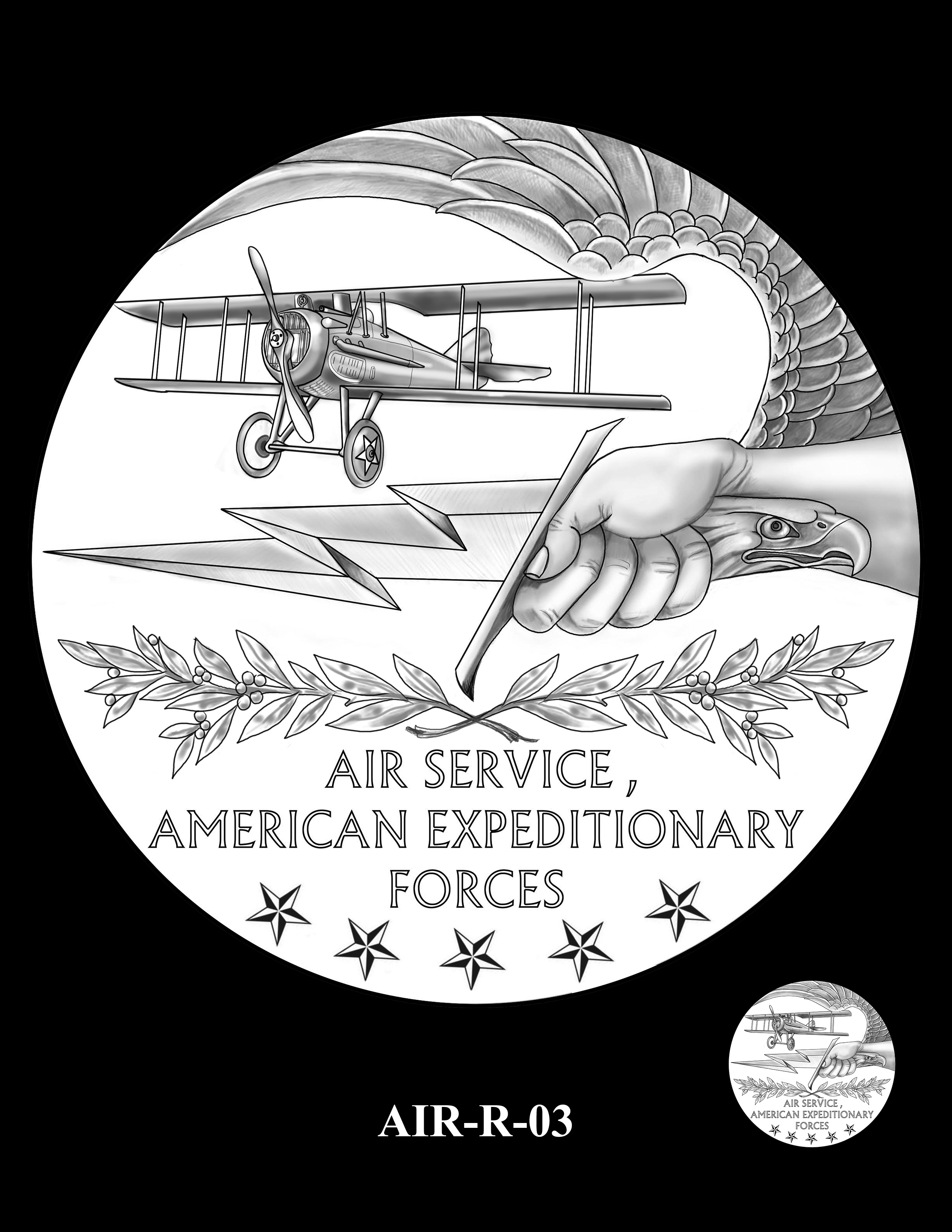 P1-AIR-R-03 -- 2018-World War I Silver Medals - Air Service