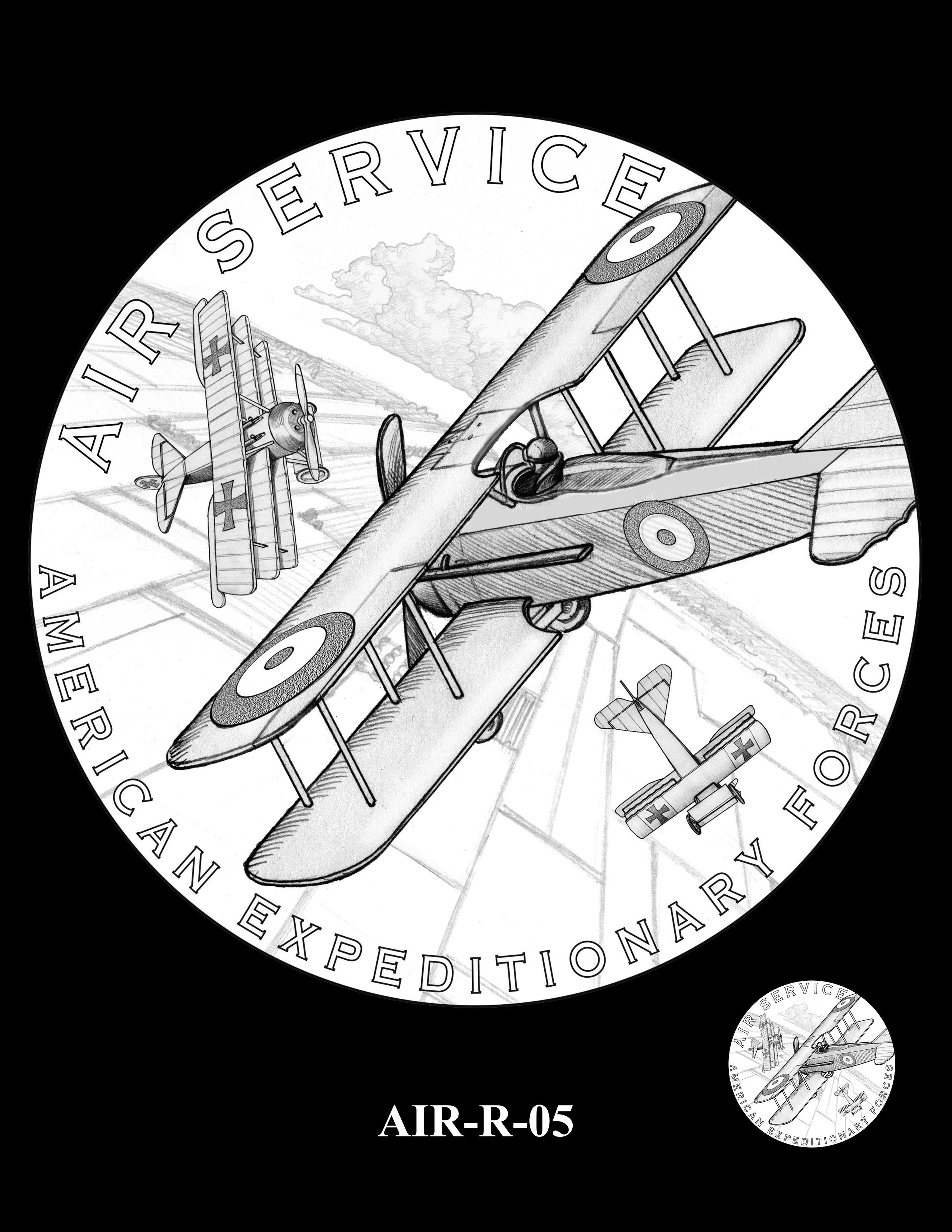P1-AIR-R-05 --2018-World War I Silver Medals - Air Service
