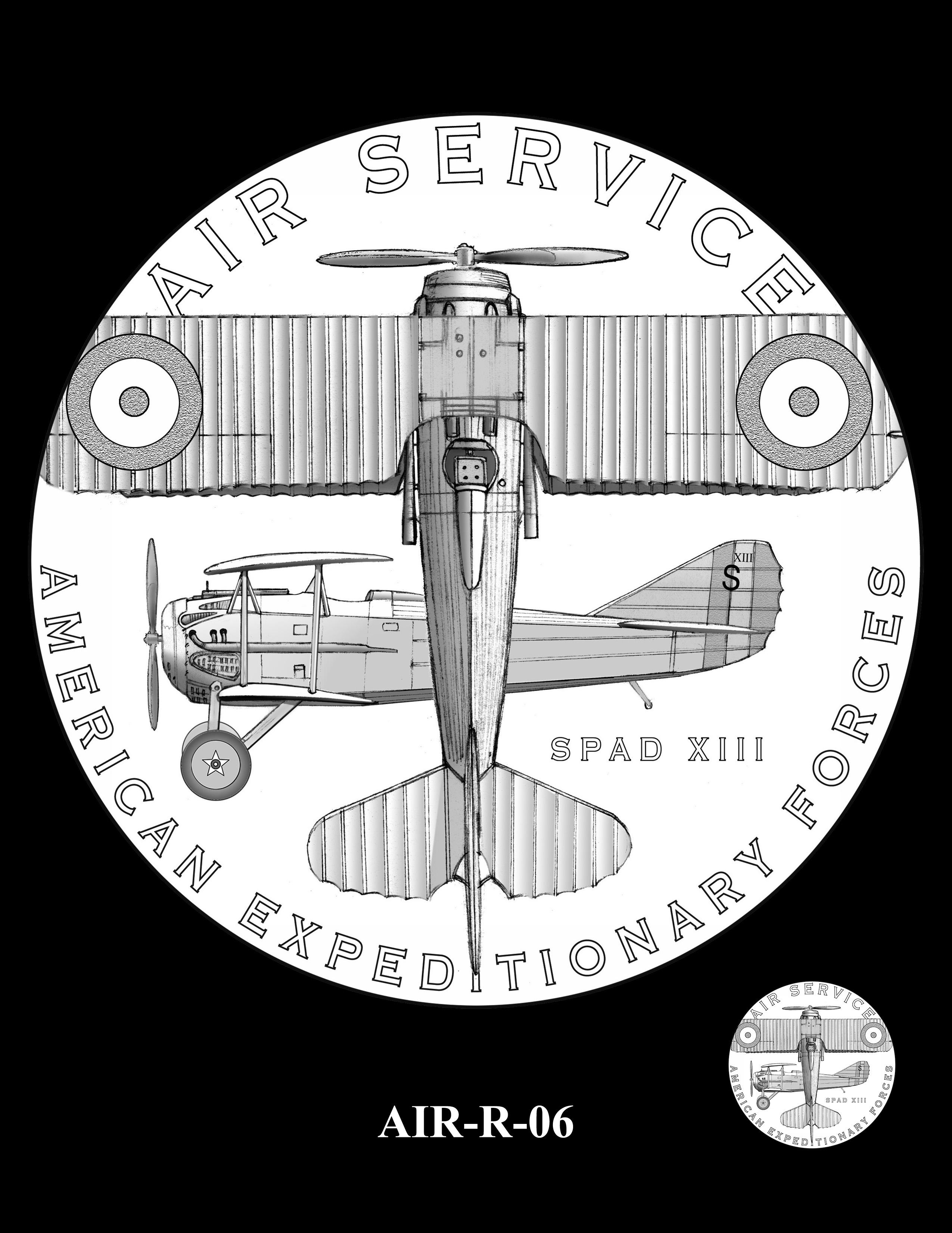 P1-AIR-R-06 --2018-World War I Silver Medals - Air Service