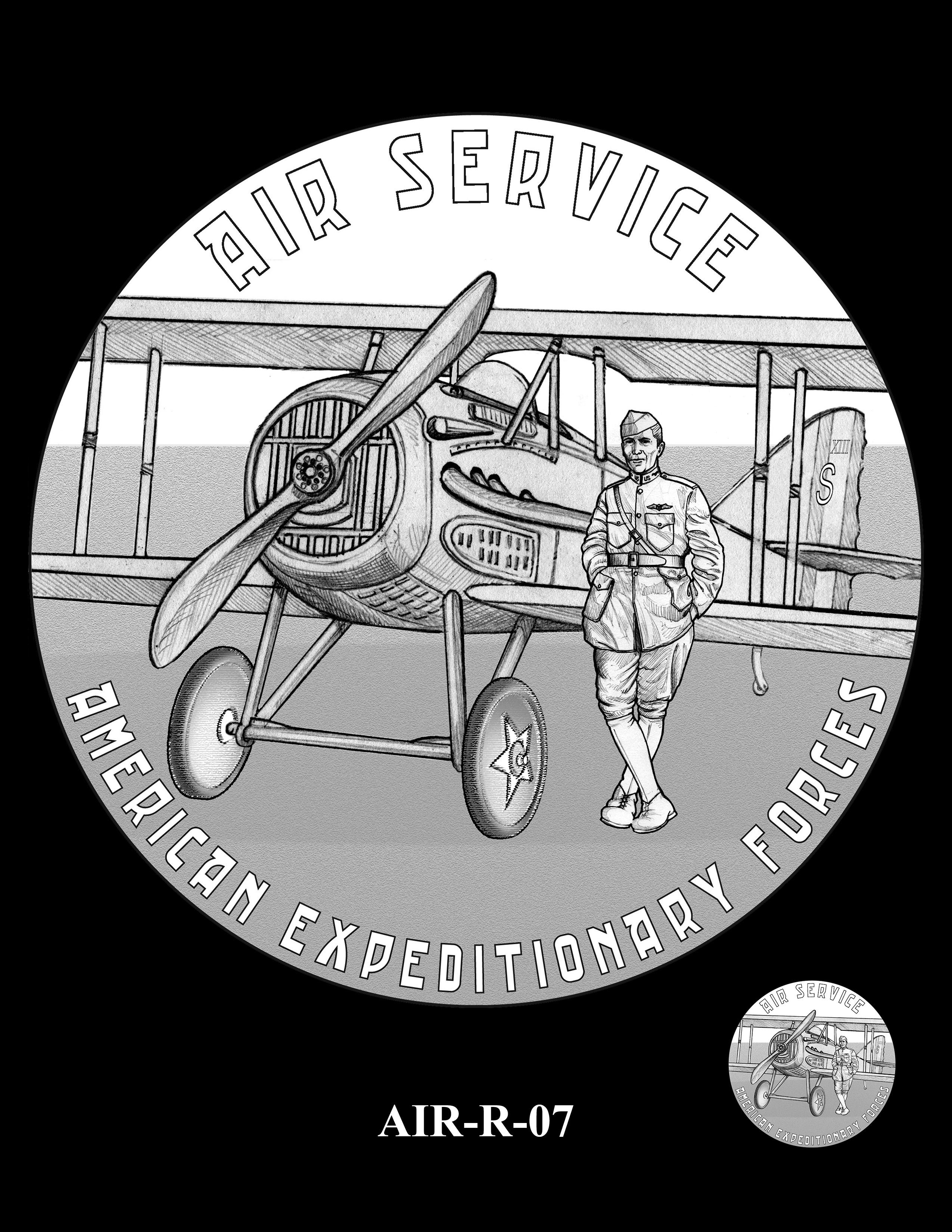 P1-AIR-R-07 -- 2018-World War I Silver Medals - Air Service