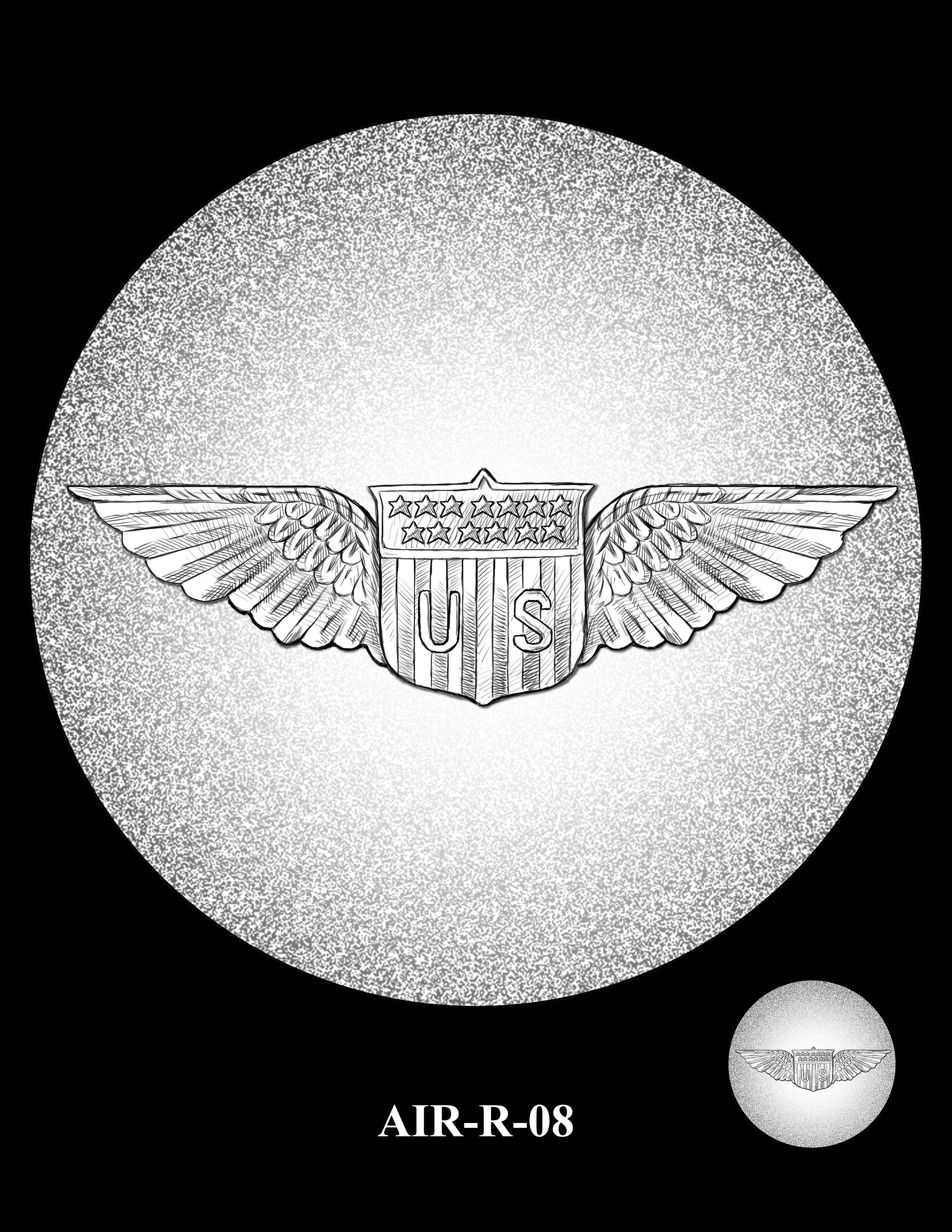 P1-AIR-R-08 -- 2018-World War I Silver Medals - Air Service