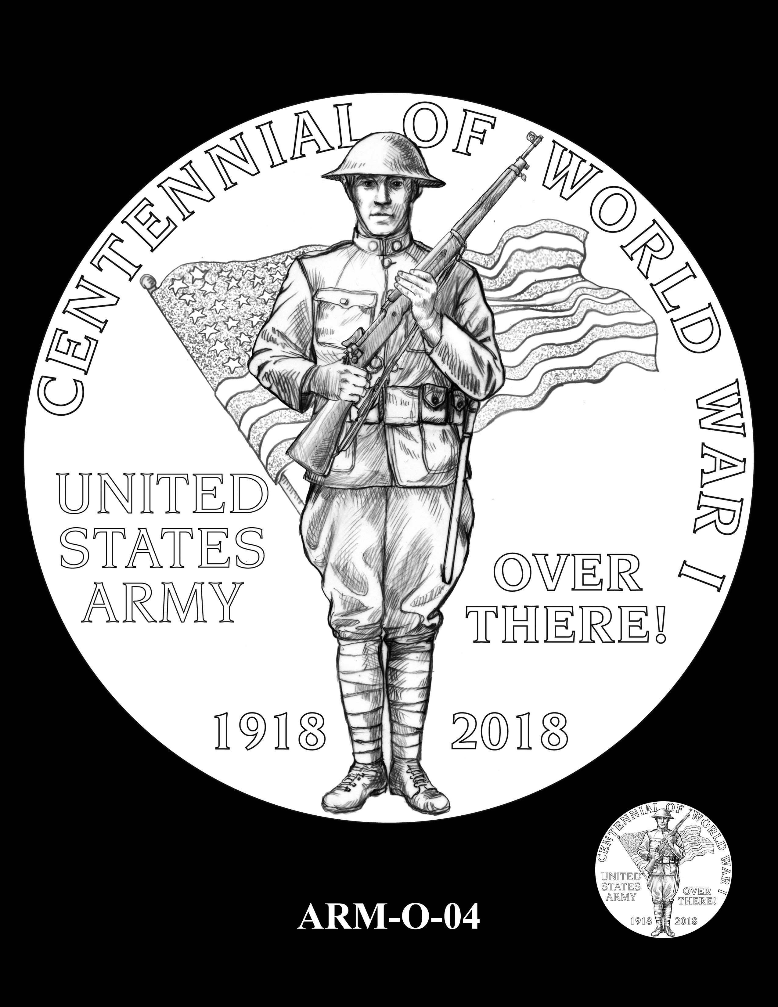 P1-ARM-O-04 -- 2018-World War I Silver Medals - Army