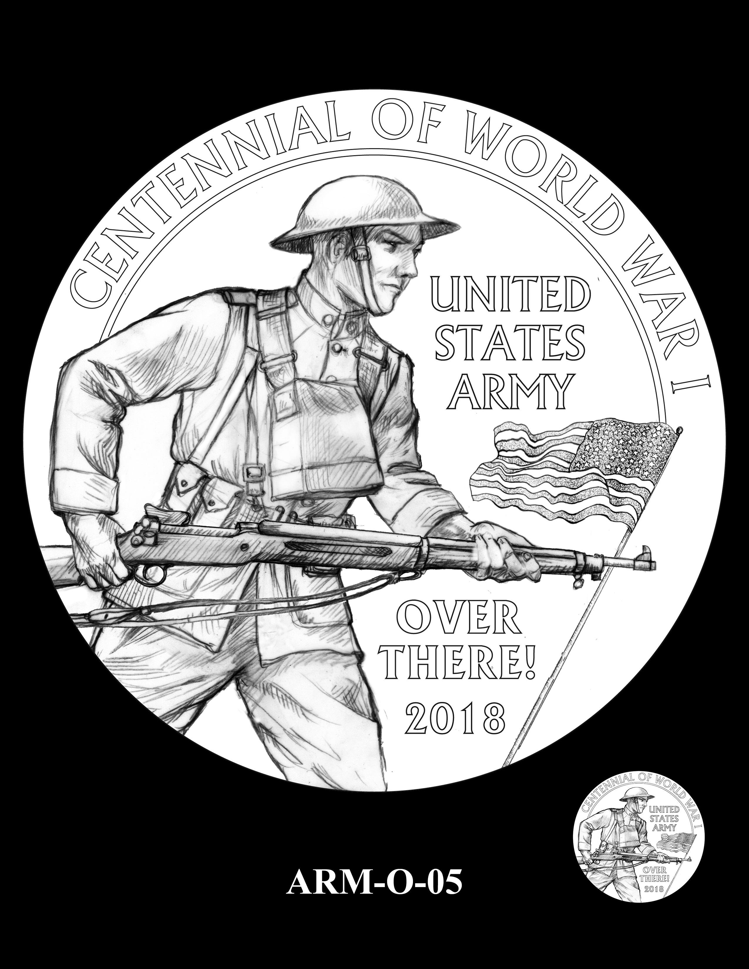 P1-ARM-O-05 -- 2018-World War I Silver Medals - Army