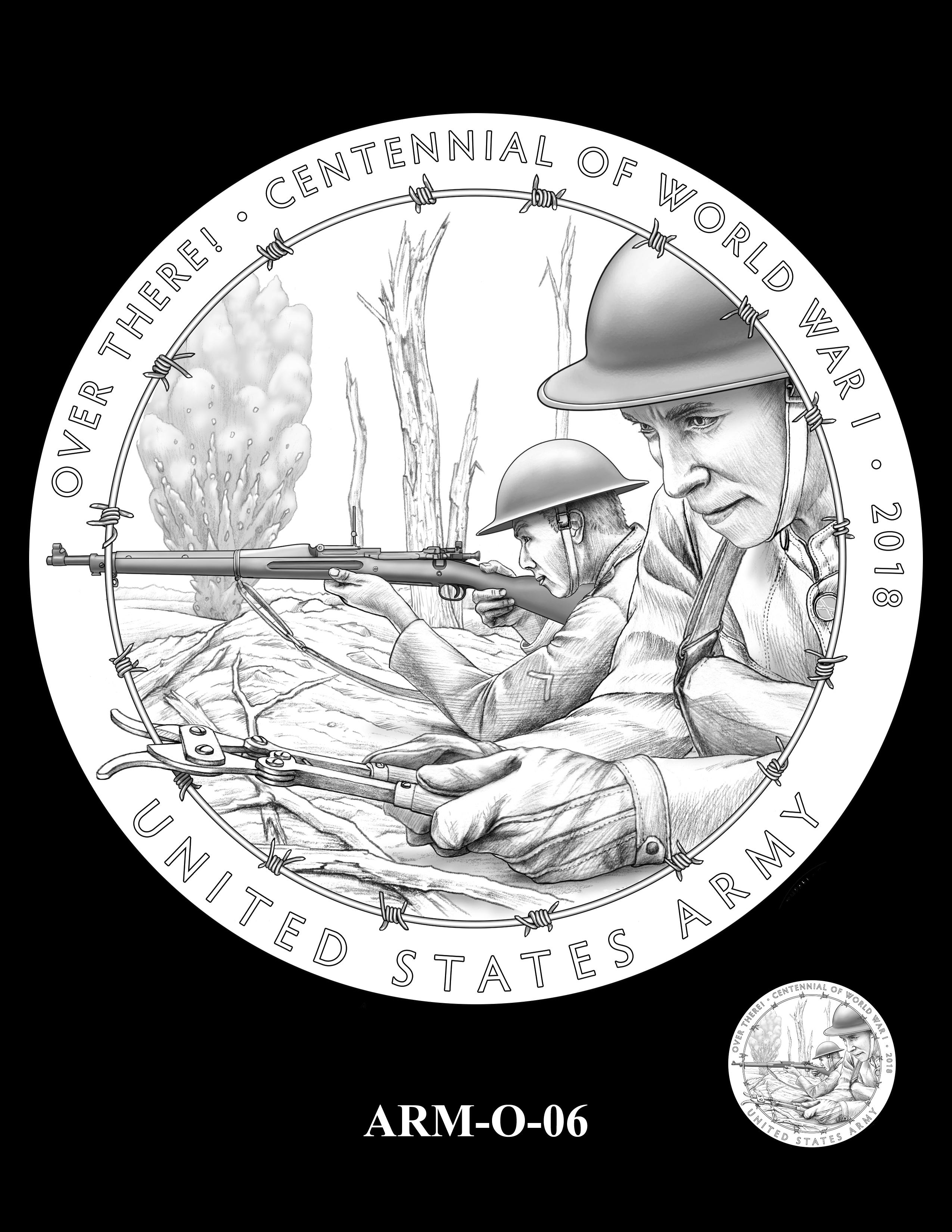 P1-ARM-O-06 -- 2018-World War I Silver Medals - Army