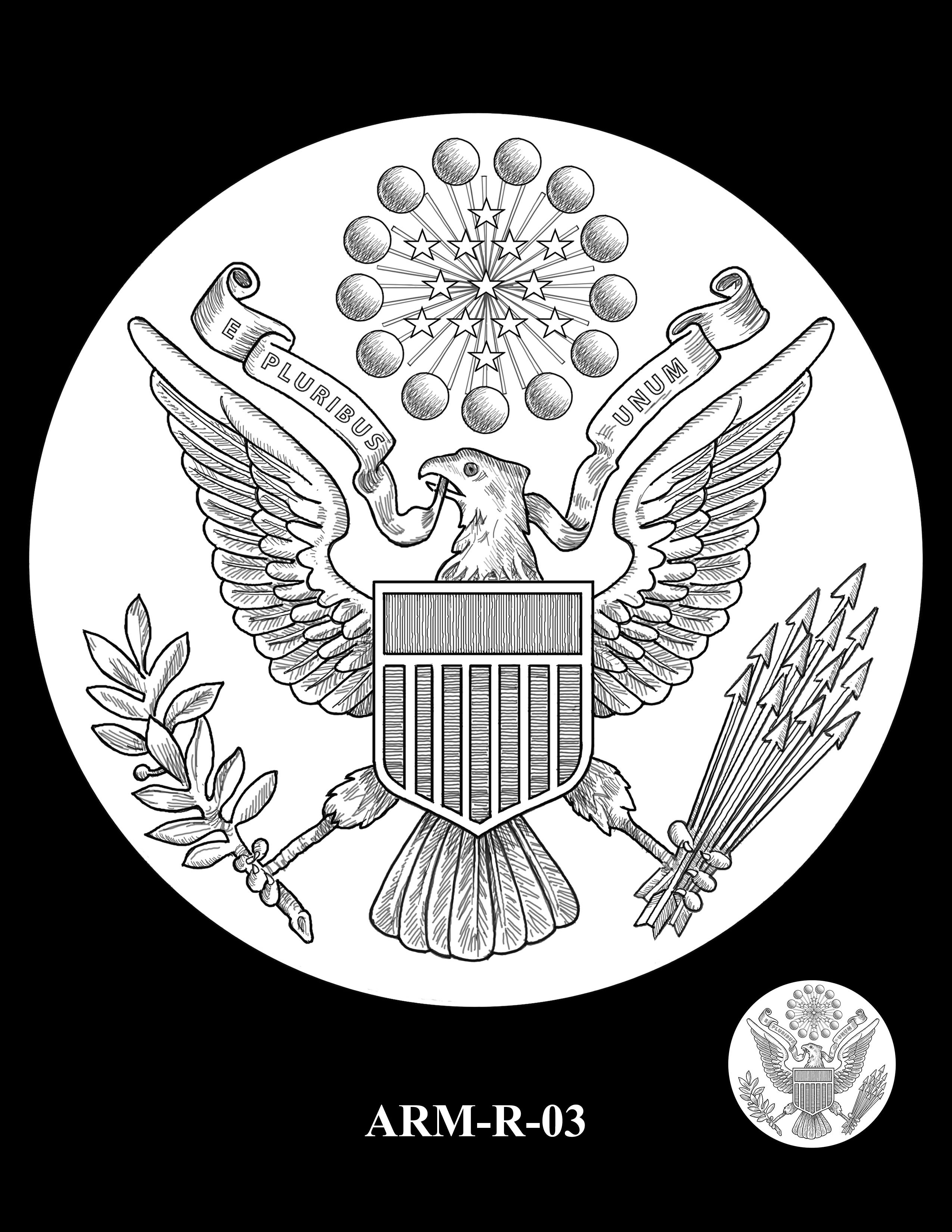 P1-ARM-R-03 -- 2018-World War I Silver Medals - Army