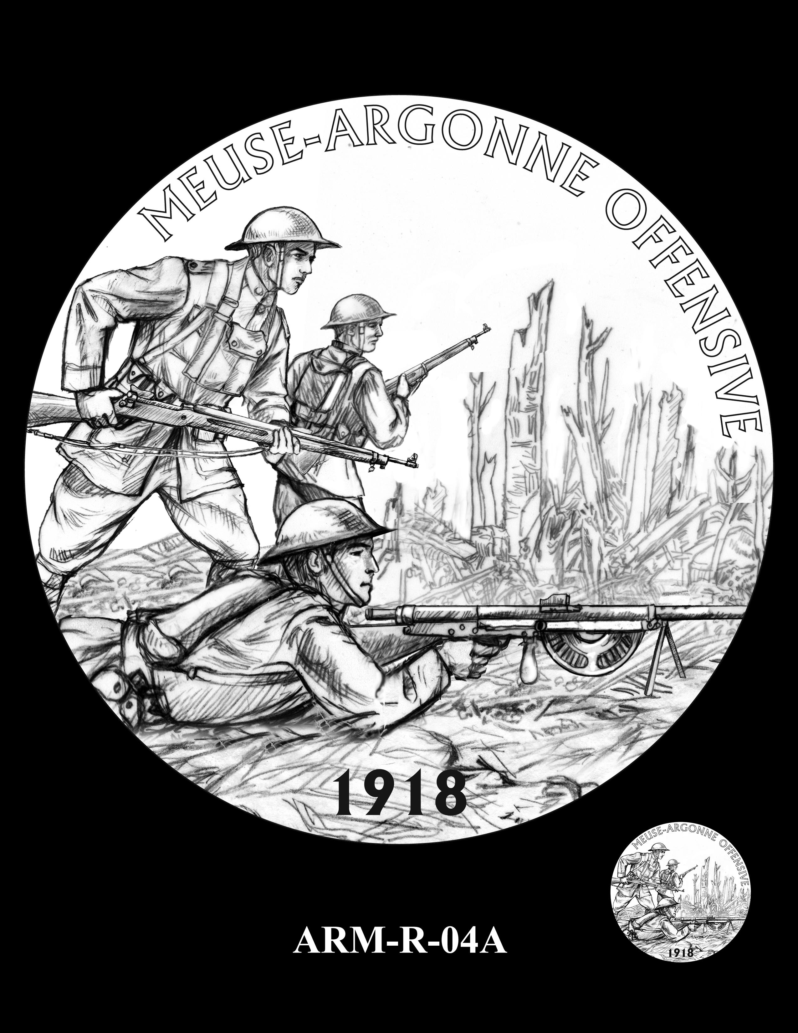 P1-ARM-R-04a --2018-World War I Silver Medals - Army