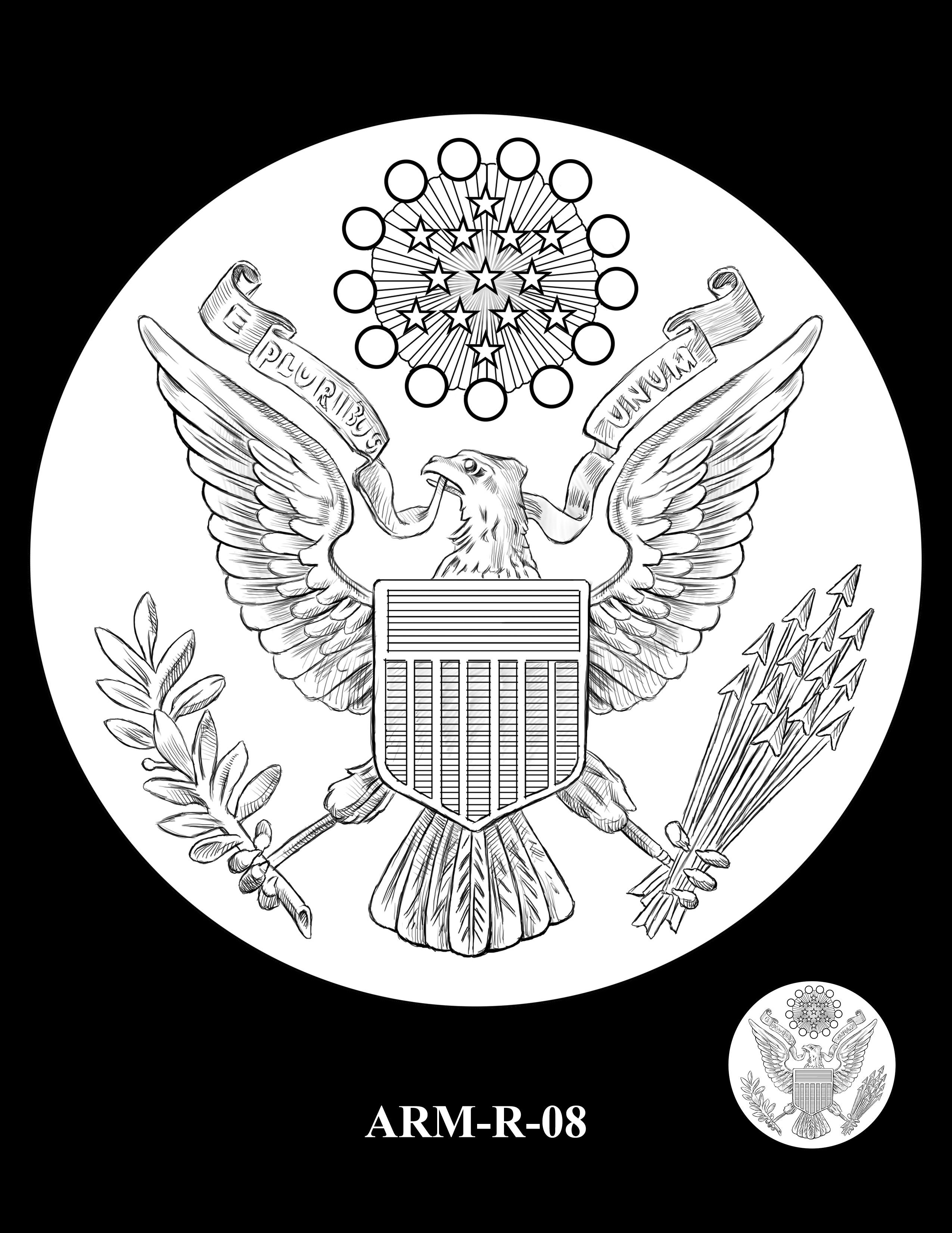 P1-ARM-R-08 -- 2018-World War I Silver Medals - Army