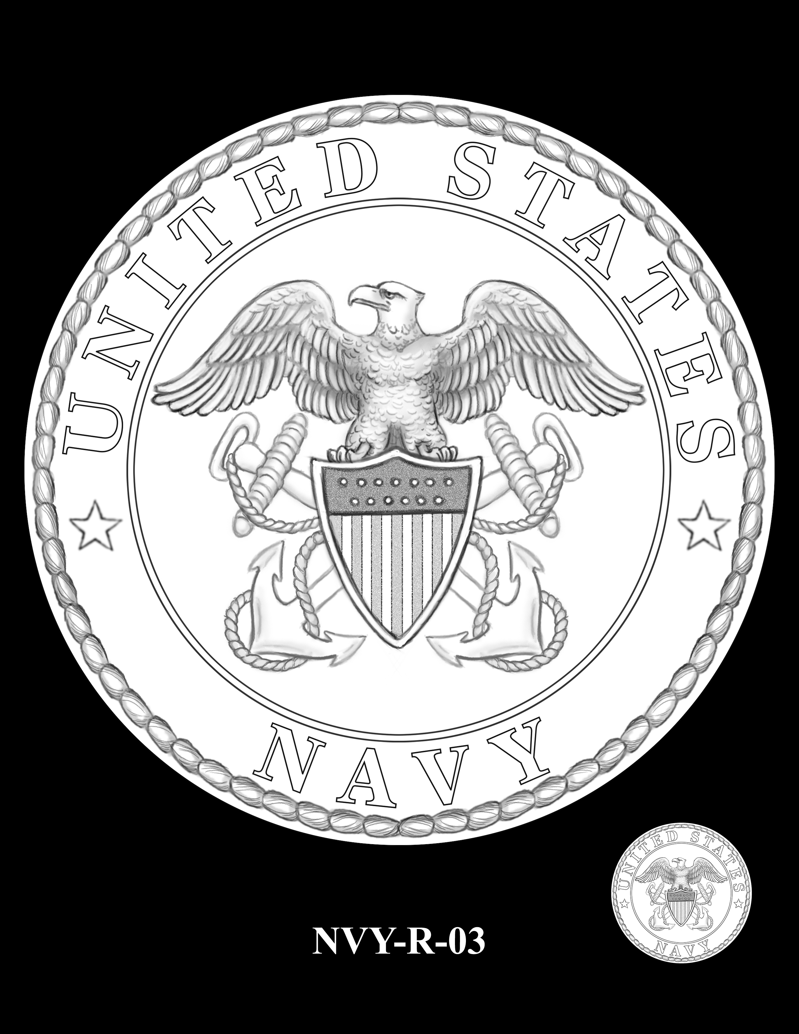 P1-NVY-R-03 -- 2018-World War I Silver Medals - Navy