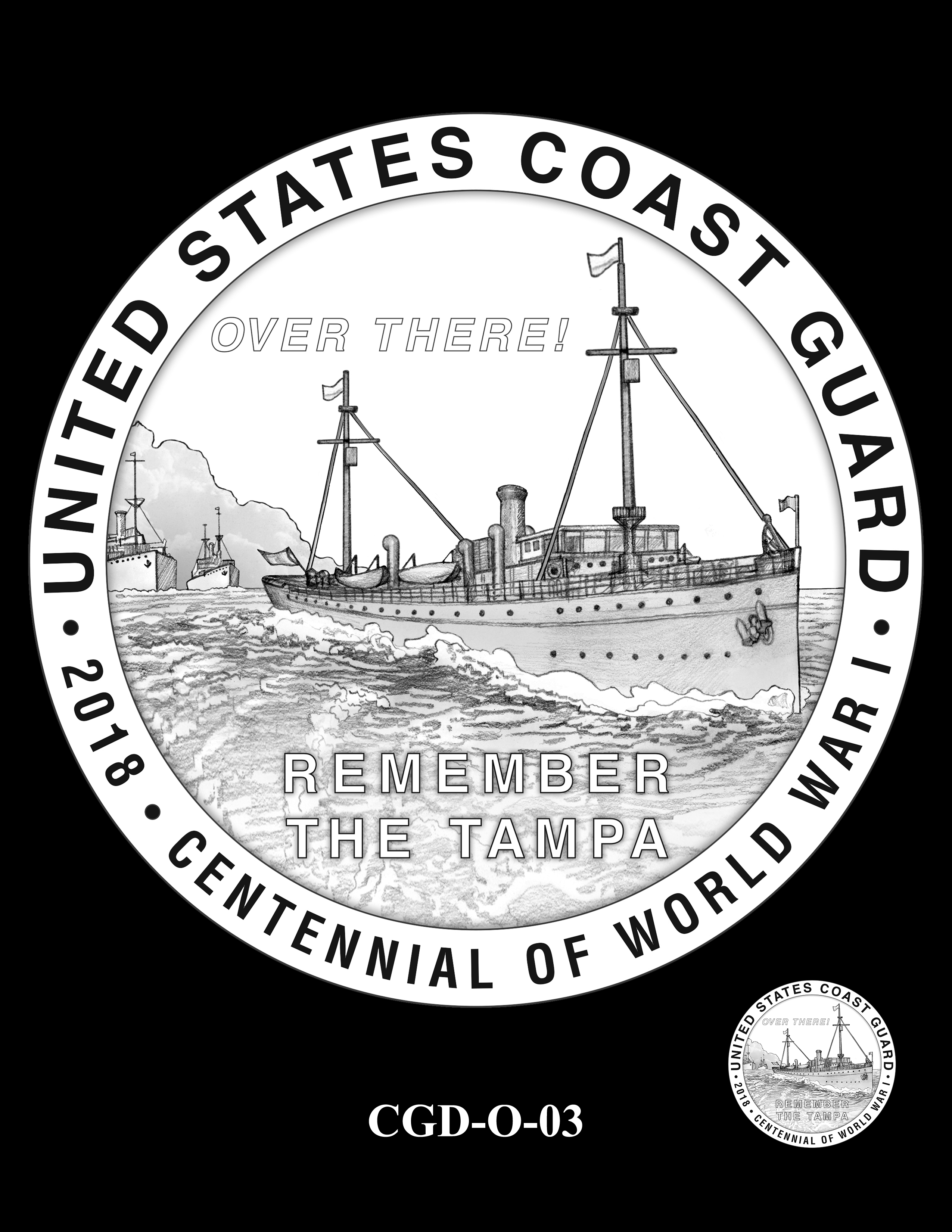 P1a-CGD-O-03 -- 2018-World War I Silver Medals - Coast Guard