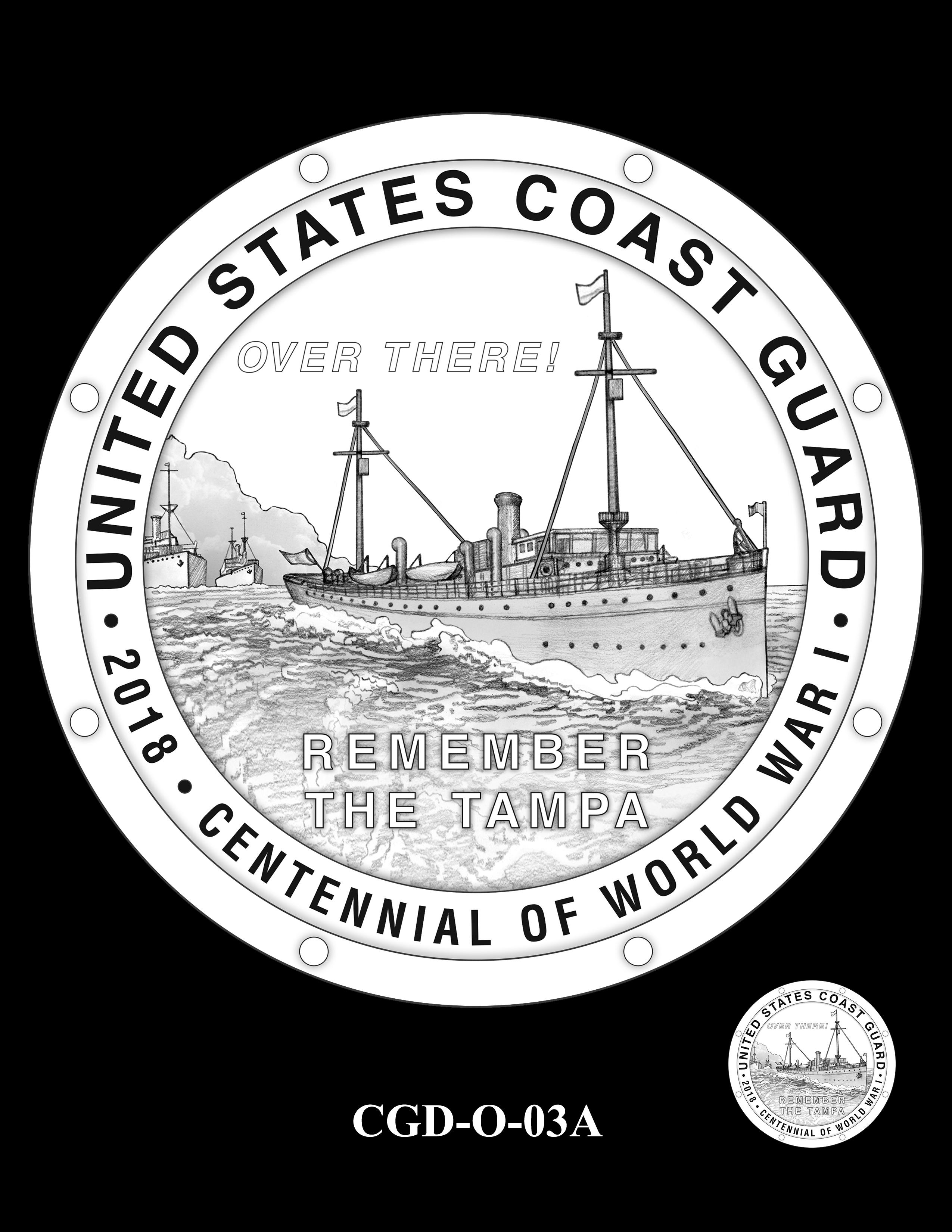 P1a-CGD-O-03A -- 2018-World War I Silver Medals - Coast Guard