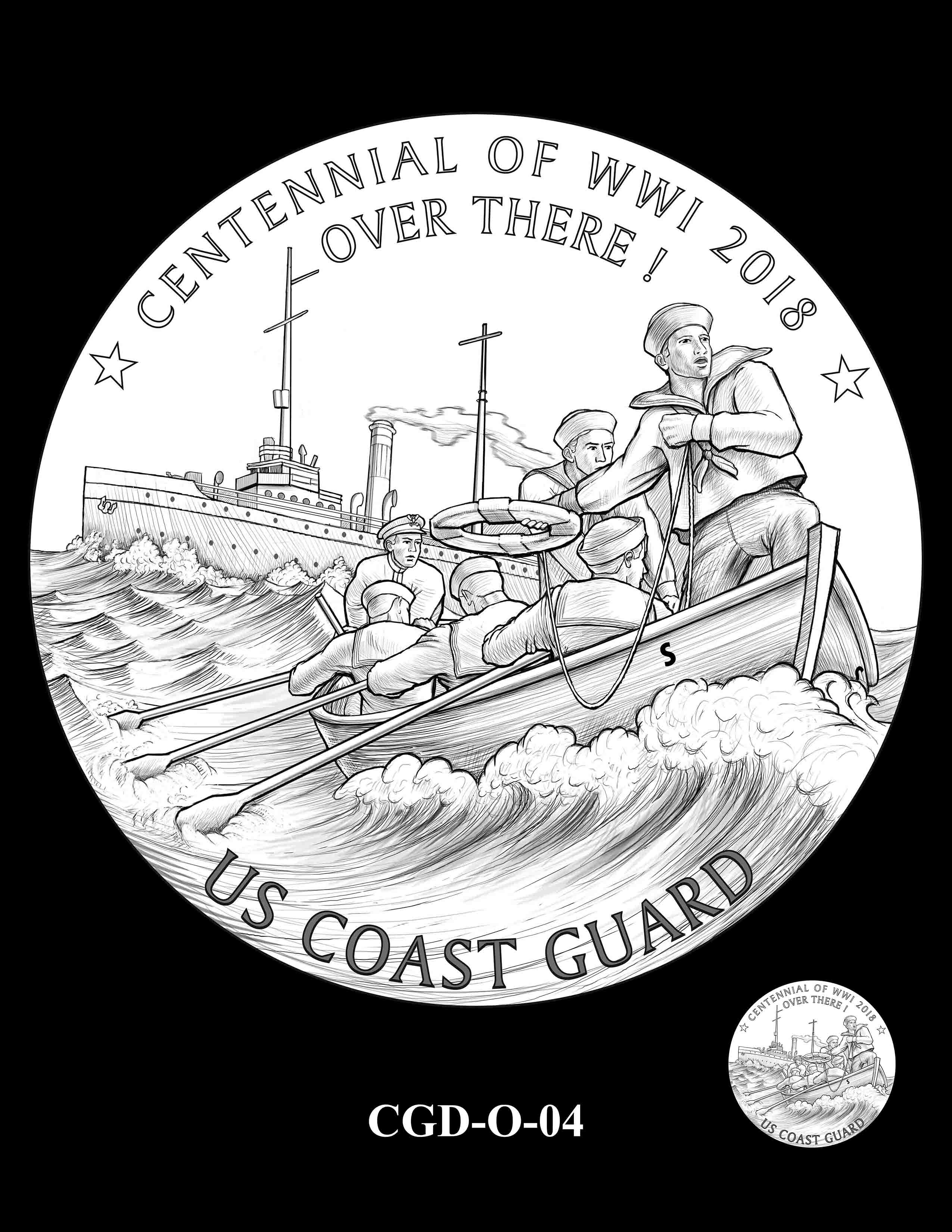 P1a-CGD-O-04 -- 2018-World War I Silver Medals - Coast Guard