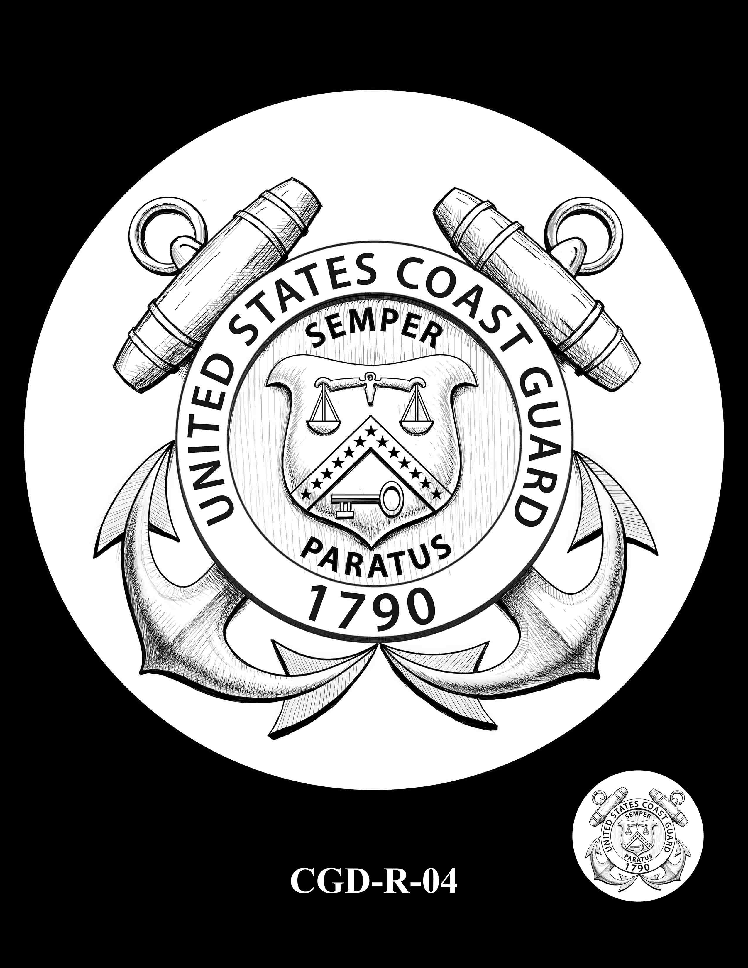 P1a-CGD-R-04 -- 2018-World War I Silver Medals - Coast Guard