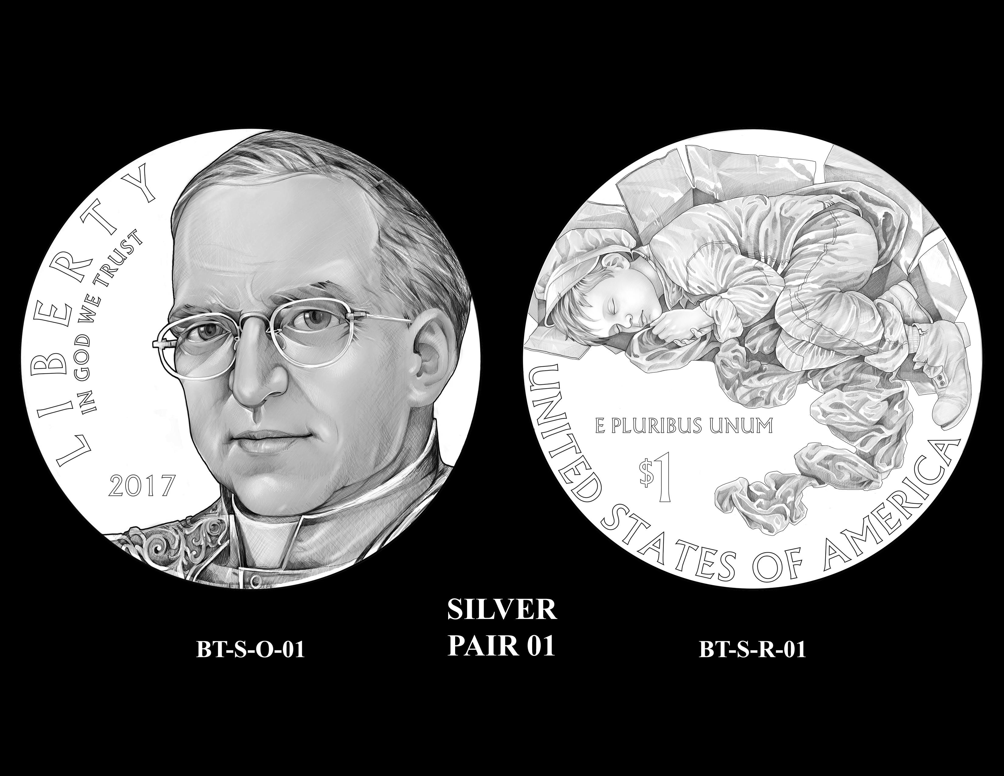 Silver-Pair-01 -- 2017 Boystown Centennial Commemorative Coin  Program