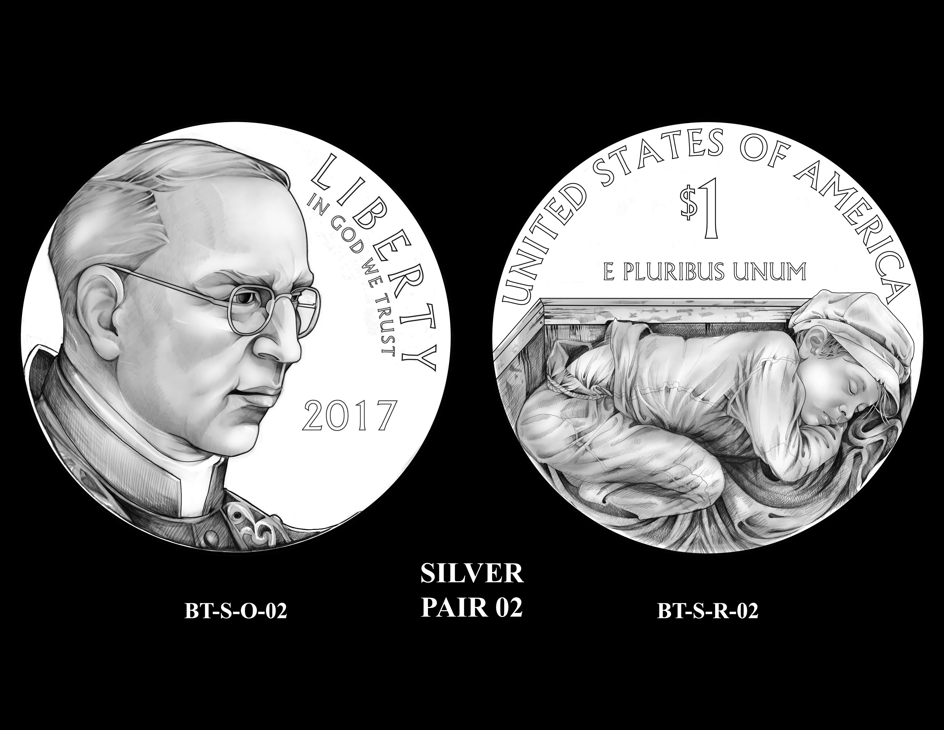 Silver-Pair-02 -- 2017 Boystown Centennial Commemorative Coin  Program