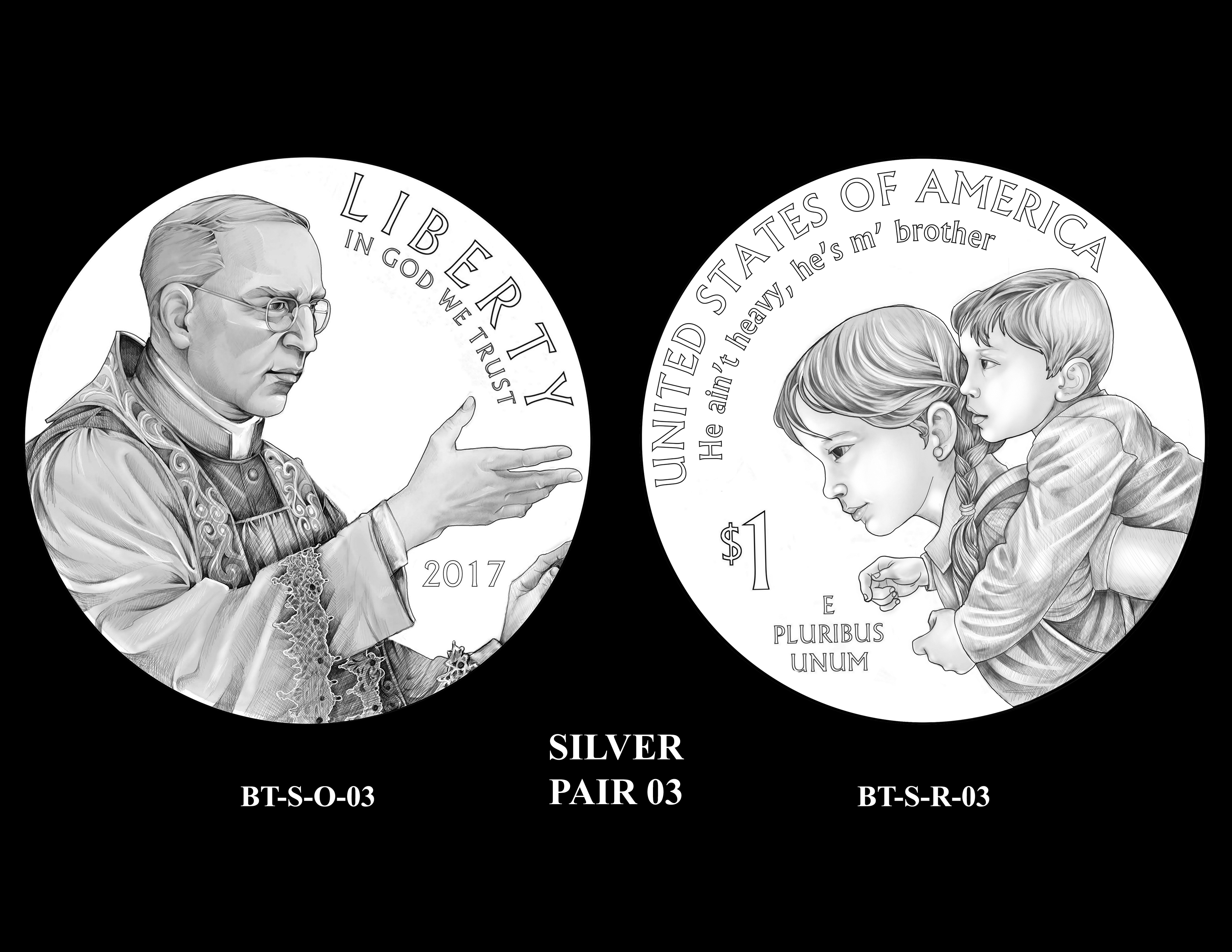 Silver-Pair-03 -- 2017 Boystown Centennial Commemorative Coin  Program