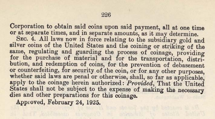 Historic Legislation: VT/CA/Fort Vancouver Coin Act, Page 2