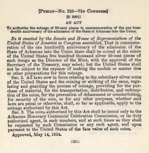 Historic Legislation, May 14, 1934. Full text is duplicated in the body of this page.