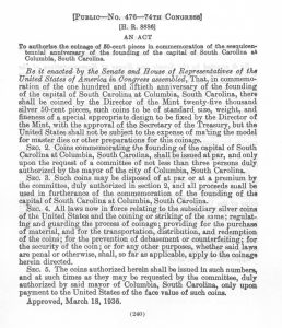 Historic Legislation, March 18, 1936. Full text is duplicated in the body of this page.