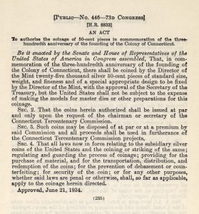 Historic Legislation, June 21, 1934. Full text is duplicated in the body of this page.