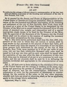 Historic Legislation, May 5, 1936. Full text is duplicated in the body of this page.