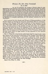 Historic Legislation, May 17, 1926. Full text is duplicated in the body of this page.