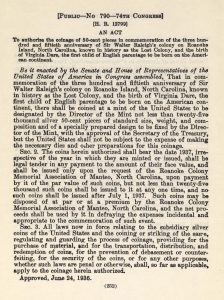 Historic Legislation, June 24, 1936. Full text is duplicated in the body of this page.
