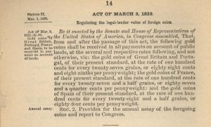 Historic Legislation, March 3, 1823. Full text is duplicated in the body of this page.