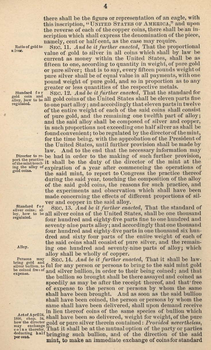 Historic Legislation: Coinage Act 1792, Page 4