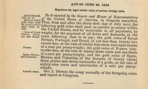 Historic Legislation, June 28, 1834. Full text is duplicated in the body of this page.