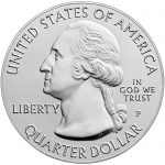 2017 America the Beautiful Quarters Five Ounce Silver Uncirculated Coin Ozark Riverways Missouri Obverse