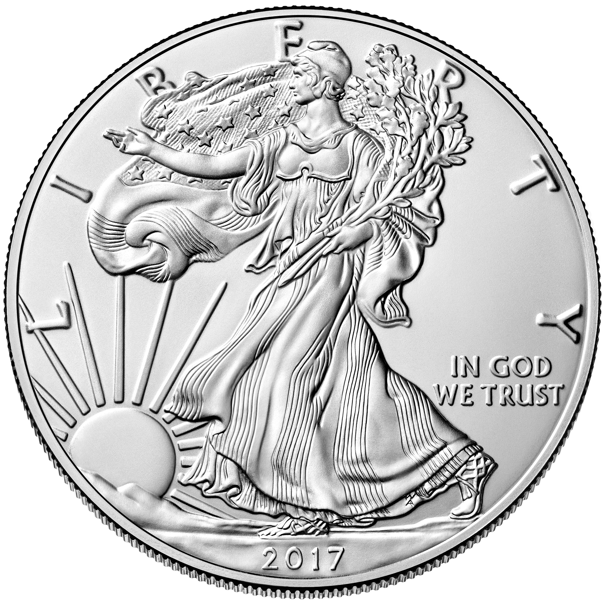 2017 American Eagle Silver One Ounce Uncirculated Coin Obverse