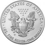 2017 American Eagle Silver One Ounce Uncirculated Coin Reverse