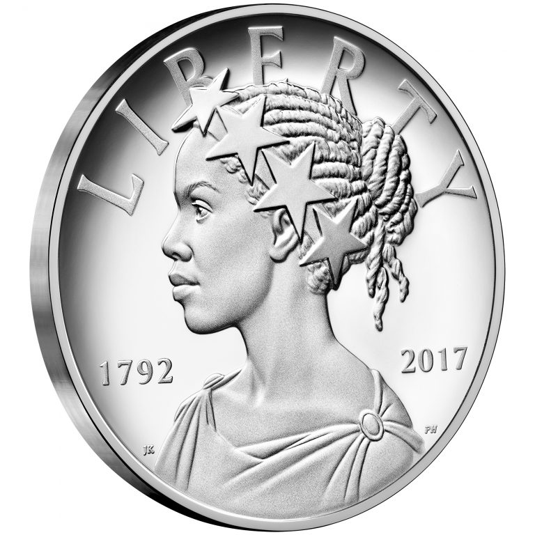 2017 American Liberty 225th Anniversary Silver Medal Obverse Angle
