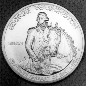 1982 George Washington Commemorative Half Dollar Proof Obverse