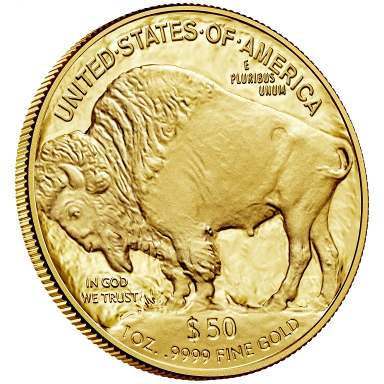 2017 American Buffalo One Ounce Gold Proof Coin Reverse Angle