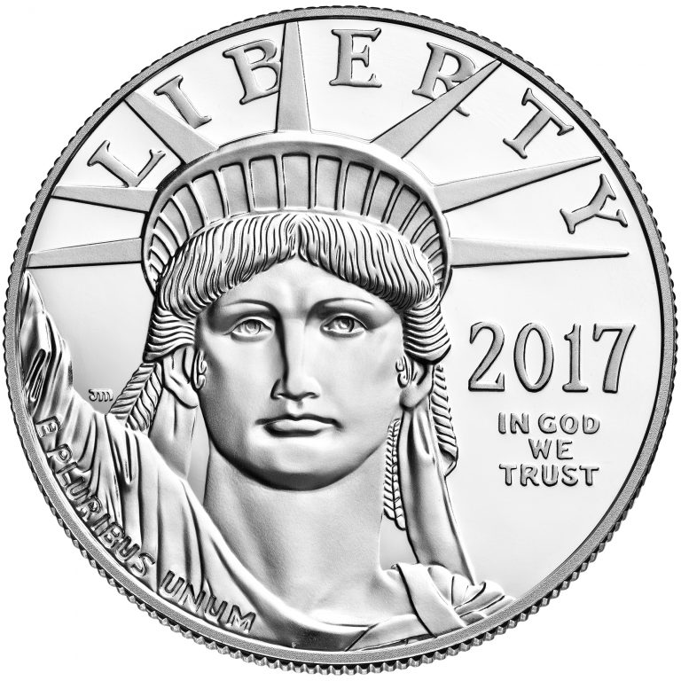 2017 American Eagle Platinum One Ounce Proof Coin Obverse