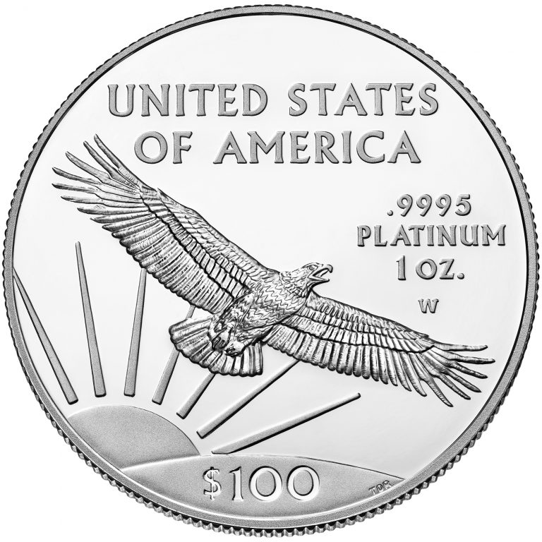 2017 American Eagle Platinum One Ounce Proof Coin Reverse